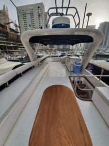 75ft Yacht Rental Top Deck