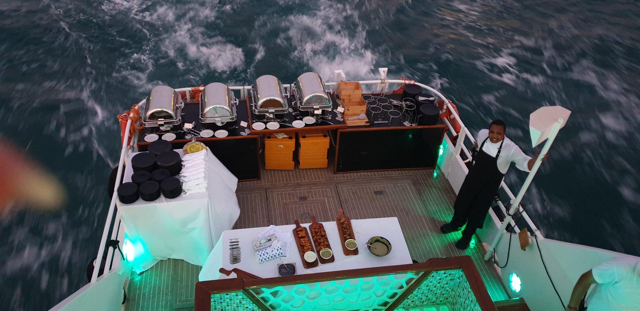 Yacht Catering in Dubai Rear Setup