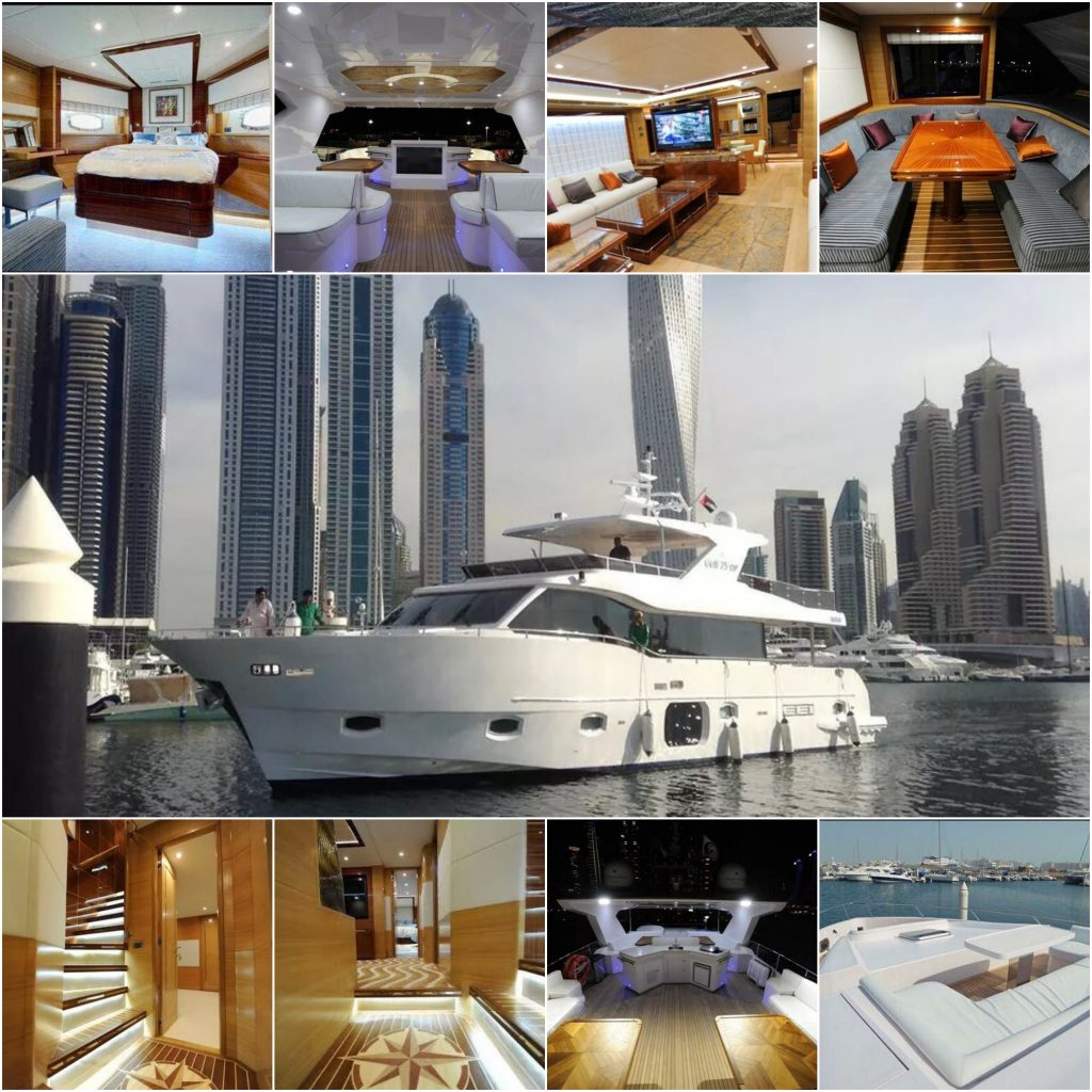 75ft VIP luxury yacht rental in Dubai